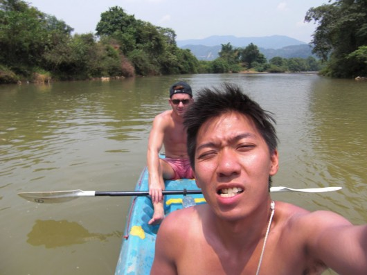 Getting scorched in the sun while kayaking....