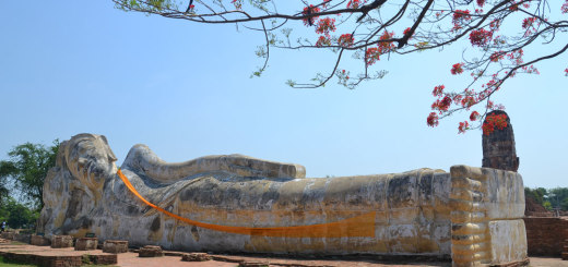 Lying buddha in Ayutthaya