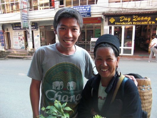 Cho-Cho, the most cheerful Hmong vender I met, very chatty