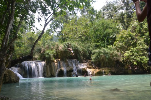 Cool dip in one of the many pools in Tat Kuang Si