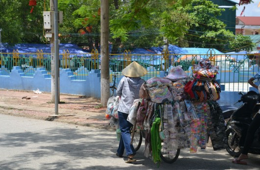 It's all about the shops on bikes in Vietnam