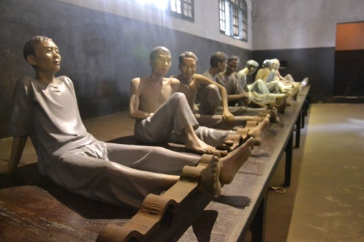 Hoa Lo prisoners chained back in the days...