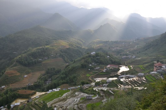 Excellent view of Cat Cat village