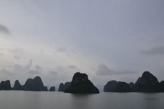 Halong Bay rock formations