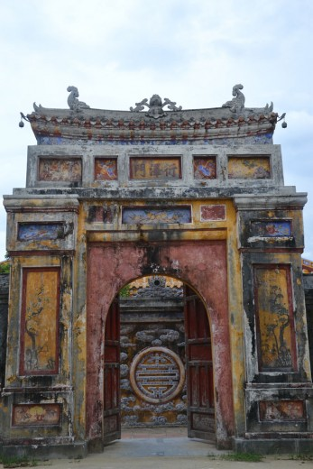 Old gates in Citadel in Hue