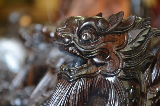 Puff the magic dragon in one of the woodcarving workshops