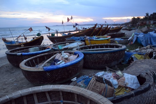 Floating fishing pods in Nha Trang