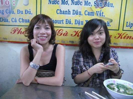 Anh and Tuyet showing me around Hanoi eating some of the best streetfood