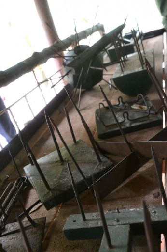 Traps used by the Vietcong during the Vietnam war