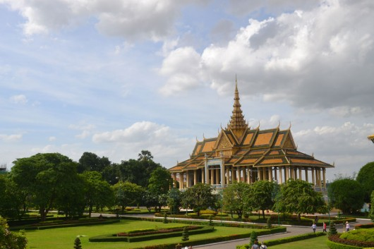 Royal Palace grounds in Phnom Penh