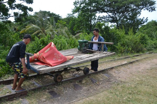 Disassembling the bamboo train