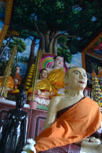 Colorful Buddhist statues