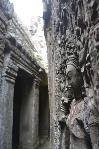 Detail of the temples in Angkor Wat