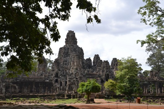 Bayon temple complex from a distance