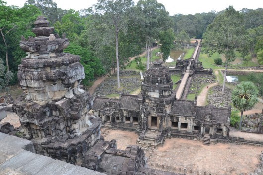 Overview of one of the temple comlexes in Angkor Wat