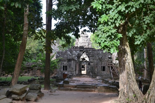 Temples in the middle of the jungle in Angkor Wat