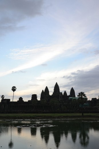 Sunset at the temples of Angkor Wat