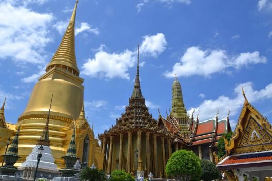Royal Palace and golden stupa side by side