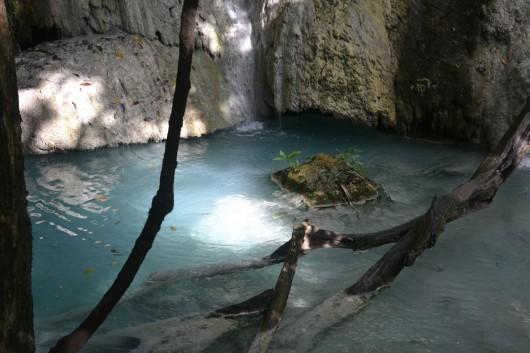 One of the swimming pools at Erawan Falls