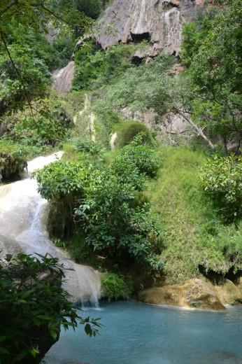 Lovely Erawan Falls in Kanchanaburi