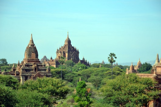 Temple ruins spread out all over the plains of Bagan