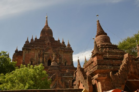 Imposing structures in Bagan