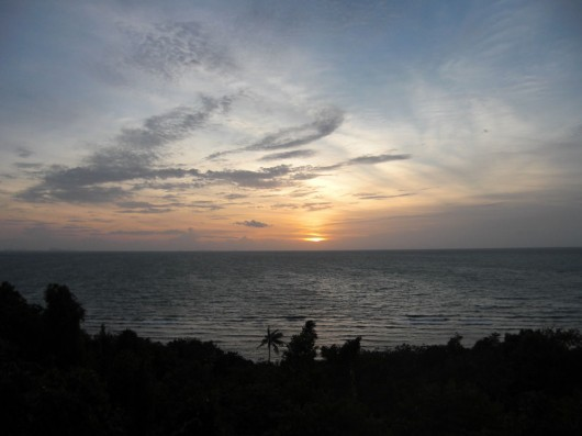 Lovely sunset from one of the many viewpoints around Koh Phangan