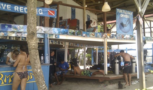 Turtle bay diveshop on Perhentian Islands