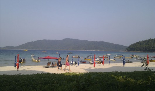 One of the main beaches on Perhentian Islands