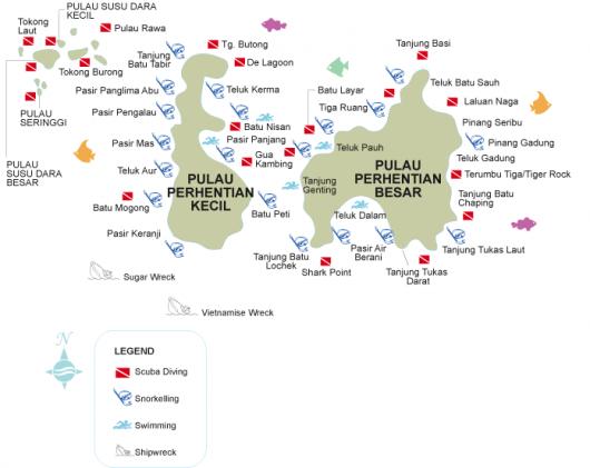Pulau Perhentian Map