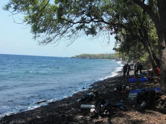 Tulamben beach front near USAT Liberty wreck
