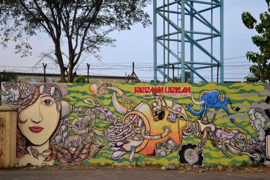Awesome graffiti near the trainstation