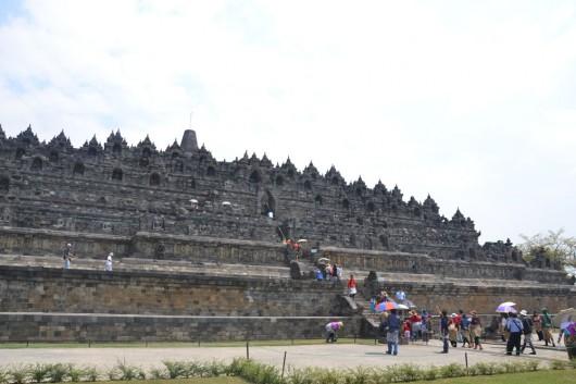 Enormous Borobudur temple