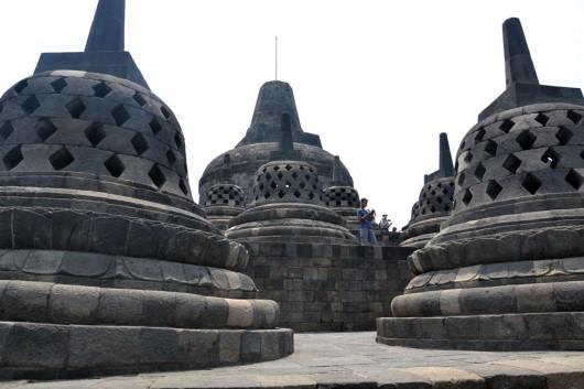 Top layer of Borobudur temple