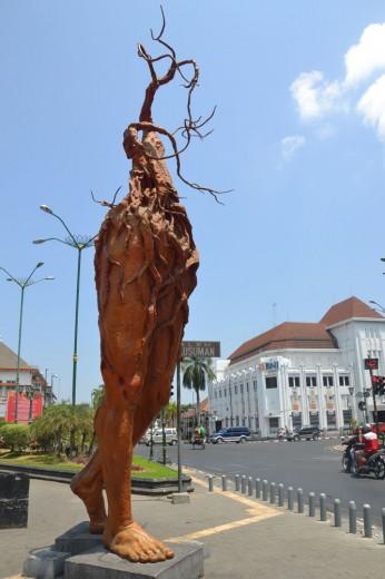 Statue in downtown Yogyakarta