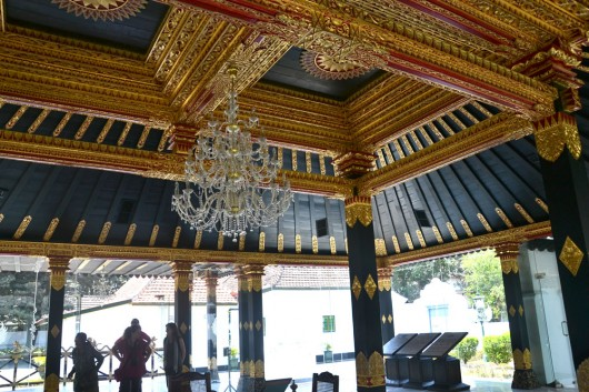 Ceiling decoration of the study inside the Kraton