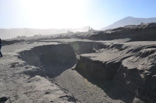Cracks near Mount Bromo