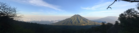 View from the trail towards Ijen plateau