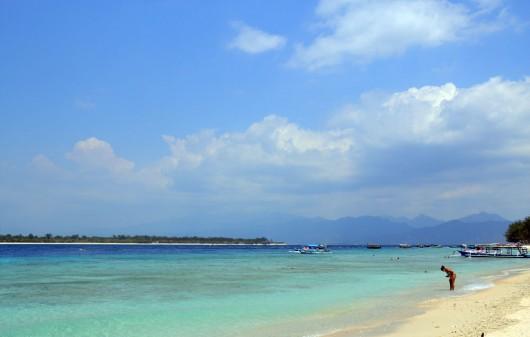Dreamy beaches on Gili Trawagan