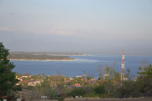 View from the highest point of Gili Trawagan overlooking other islands