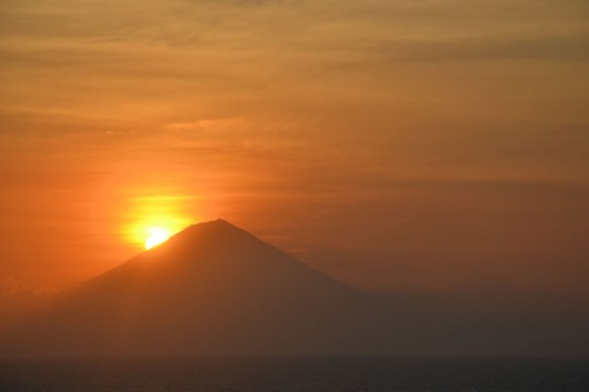 Sun going down on Gili Trawagan