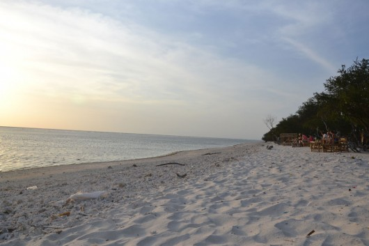 Nice remote beaches in Gili Trawagan