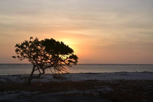 Sun setting on Gili Trawagan
