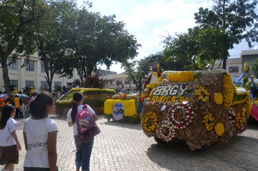 Flower cart event in front of city hall