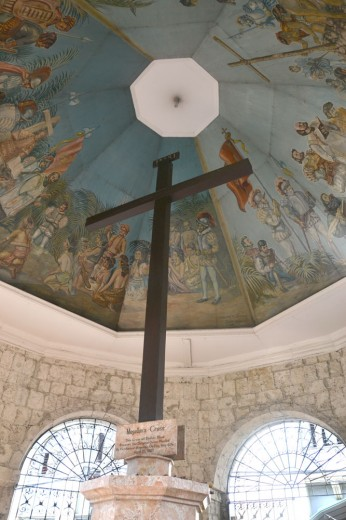 Magellan's Cross decorated with murals