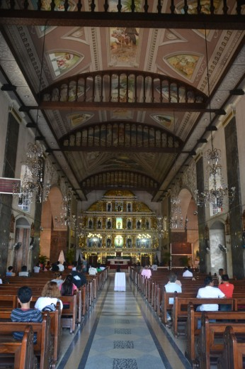 Inside the Basilica of Santo Niño