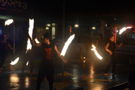 Fire dance show at CS Davao meeting