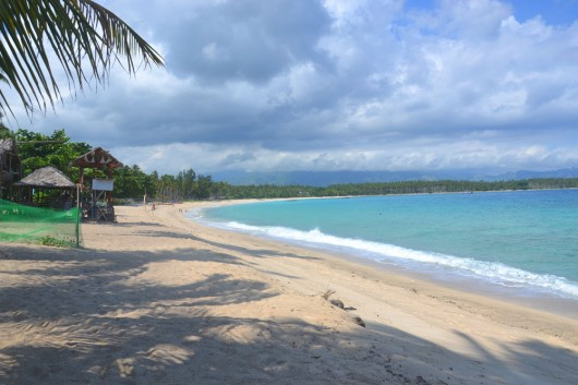 Dahican beach in Mati