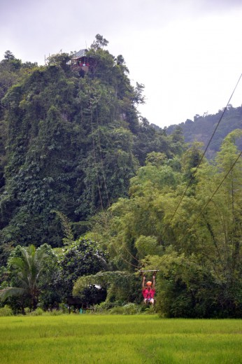 Zipline after caving