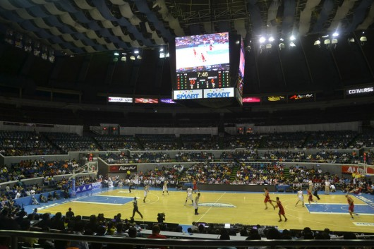 Filipino pro basketball game in Manila